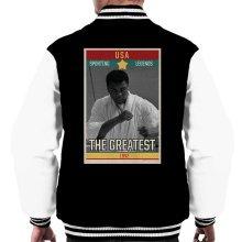 Sporting Legends Poster USA Muhammad Ali The Greatest 1942 Men's Varsity Jacket
