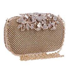 Women Luxury Evening Purse Wedding Floral Crystal Rhinestones Hand Bag