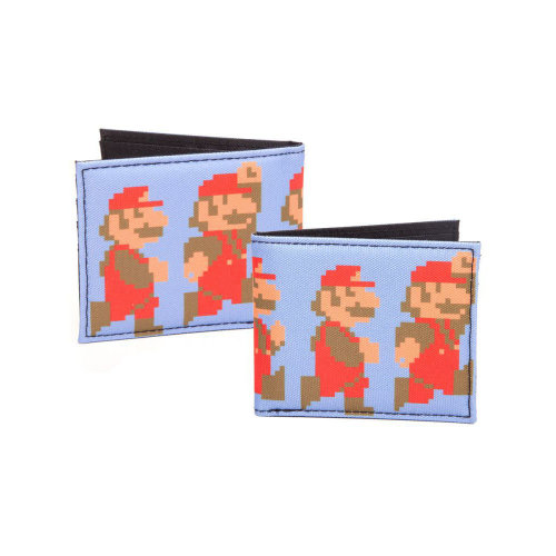 NINTENDO Super Mario Bros. Pixelated Running and Jumping Mario Bi-fold Wallet, Male, Multi-colour (MQ2S13SMS)