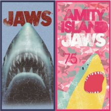 Jaws 100% Cotton Beach Towel