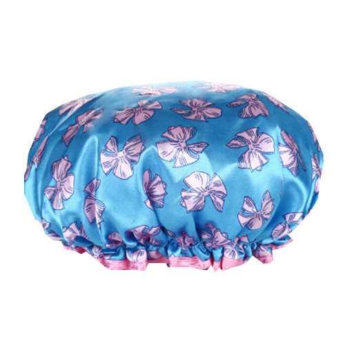 2PCS Shower Cap,Bath Cap-Elastic Band,Extra Large,Won't Fall Off Your Head Designed for Women#V