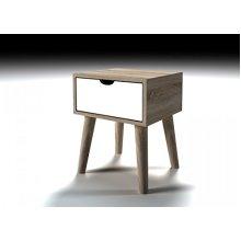 Retro Cute Scandi Lamp Side Table 1 Door Storage