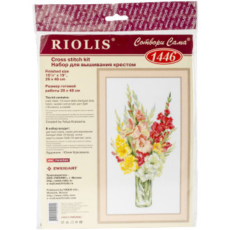 """Bouquet Of Gladioli Counted Cross Stitch Kit-10.25""""X19"""" 14 Count"""