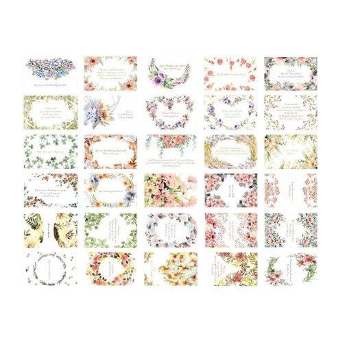 30 PCS Collectable Vintage Postcards Beautiful Flower Theme