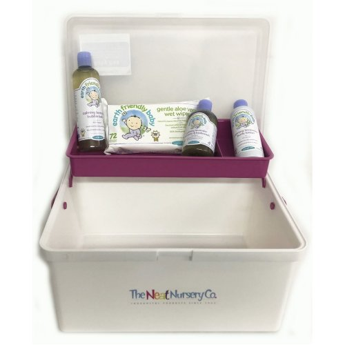 Baby Bathtime Pre Filled Baby Box Pink Organiser With Earth Friendly Baby Bath Set