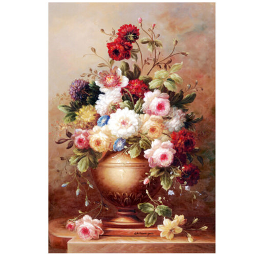 Pink Peony, Fashionable Wooden Puzzle For Adult 1000 Piece Jigsaw Puzzle