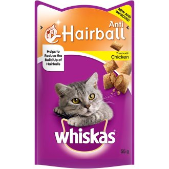 Whiskas Anti-hairball Cat Treats 55g (Pack of 8)