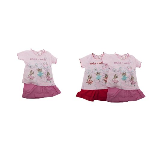 Baby Girls Make A Wish Fairy Design Short Sleeve Top And Shorts Set With Headband