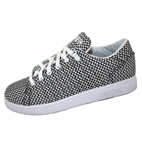 72d219961a18f K-Swiss Men's Lozan III TT Woven Trainers White / Black