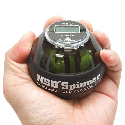 NSD Power AutoStart Spinner Gyroscopic Wrist and Forearm Exerciser with Auto Start Feature and Digital LCD Counter