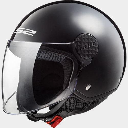 LS2 OF558 Sphere Black Open Face Jet Helmet