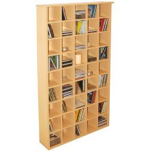 PIGEON HOLE - 585 CD Media Cubby Storage Shelves - Beech