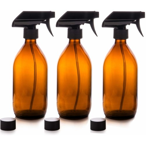 3pc Nomara Organics Amber Glass Spray Bottles - 500ml