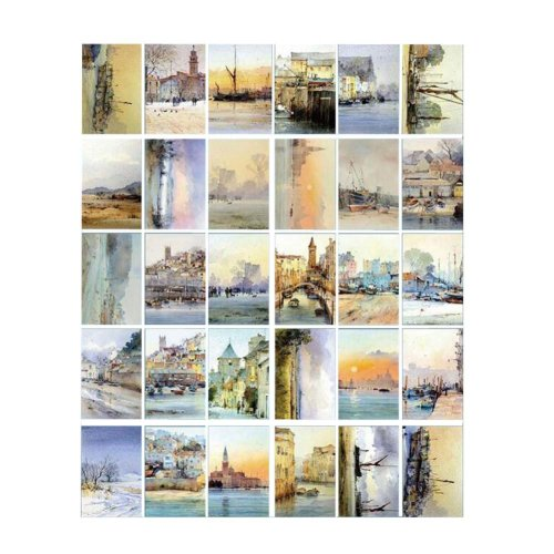 Scenery Postcard Hand Set Collection Set Painting Greeting Card