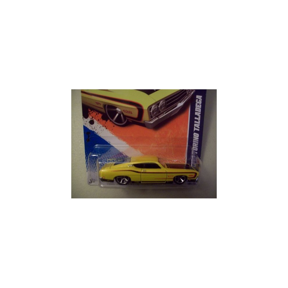 2011 Hot Wheels Walmart Exclusive '69 Ford Torino Talladega Yellow #103/244