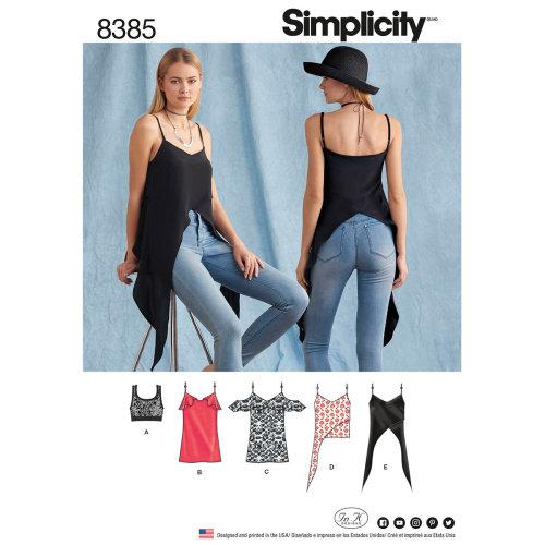 Simplicity In K Designs Top & Knit Bralette-4-6-8-10-12