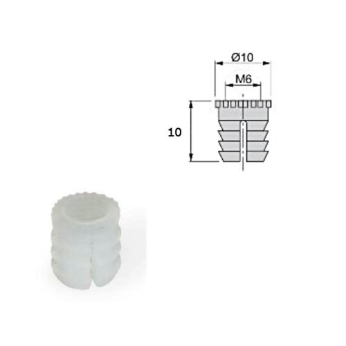 4x Furniture Connector Accessories Tool Plastic Pre-inserted Nut clear 10x10mm
