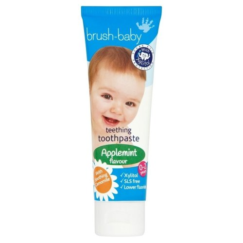 Brush-Baby Teething Applemint Flavour Toothpaste 0-2 Years 50ml