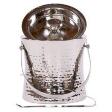 Epicurean Europe Stainless Steel Ice Bucket With Handle And Tongs