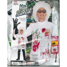 Mad Scientist (128cm) (lab Coat Gloves) -  dress carnival costume scientist pazzo 57 ages