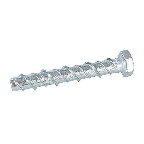 Fixman 911525 Concrete Masonry Bolts 10pk, Silver M8 x 60mm - 10pk -  fixman concrete masonry bolts 10pk m8 60mm