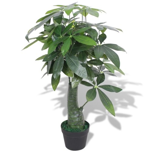 vidaXL Artificial Fortune Tree Plant with Pot 85 cm Green