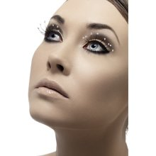Fever Eyelashes - Black With Crystal Droplets -  eyelashes droplets black fancy dress fever false accessory