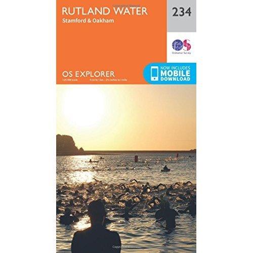 OS Explorer Map (234) Rutland Water, Stamford and Oakham
