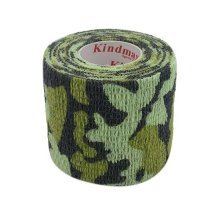 3 Rolls 2 Inches X 5 Yards Woven Elastic Adhesive Bandages For Sports, Dark Camo