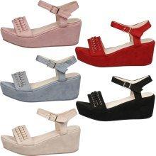 Morrigan Womens Mid Wedge Heel Platform Sandals