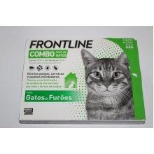 Frontline combo 3 x pack Merial Cats Ferrets fleas tick