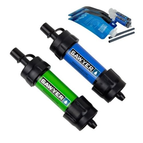 Sawyer SP2101 Mini Water Filtration System 2pc Multipack Blue Green