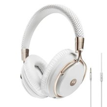 Motorola Pulse M Series Premium Designer Over-Ear Wired Headphone with In-Line Microphone - Rose/Gold