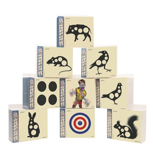 Flip Target card air rifle targets 6.75 inch square - airgun shooting fliptarget