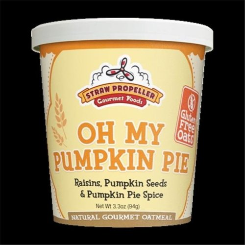 Straw Propeller Gourmet Foods 3.3 oz. Oh My Pumpkin Pie Hot Oatmeal, Case Pack 12