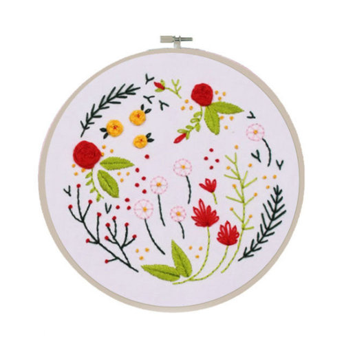 Full Set of Embroidery Kit DIY Flower Embroidery Special Gifts