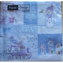 Paper+Design Pack of 20 Napkins / Serviettes - Let It Snow - 33cm x 33cm - 3ply