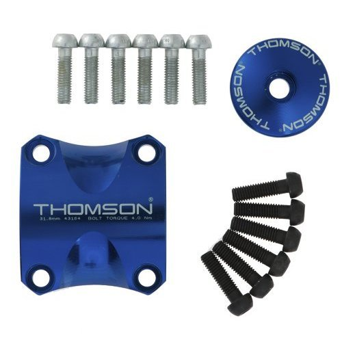 Thomson Dress Up Kit for X4 Bicycle Stem (Blue, 31.8)