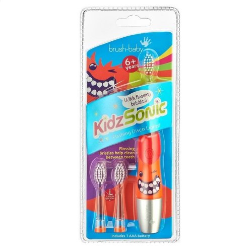 Brush-Baby KidzSonic Toothbrush 6+ years Red/Orange/Silver