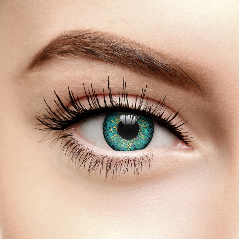 Mystic Turquoise Coloured Contact Lenses (90 Day)