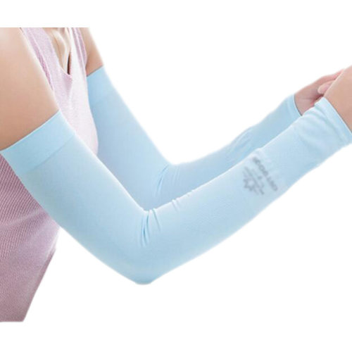 Unisex Outdoor Sunscreen Clothing Arm Skin Care Breathable Cycling Sun Protective Sleeves- Blue