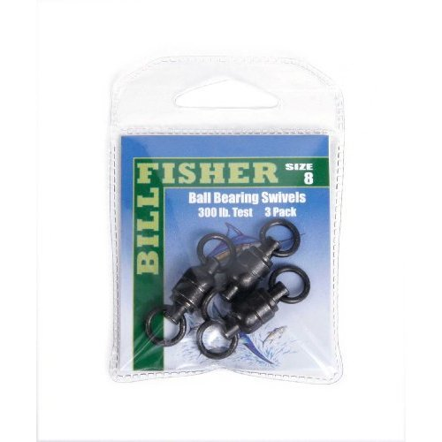 Billfisher BBS8-3PK Ball Bearing Fishing Swivels