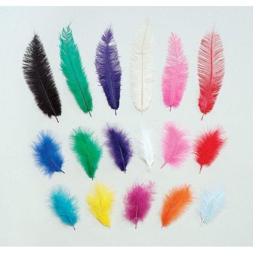 Marabou Yellow Feathers 12/pkt.