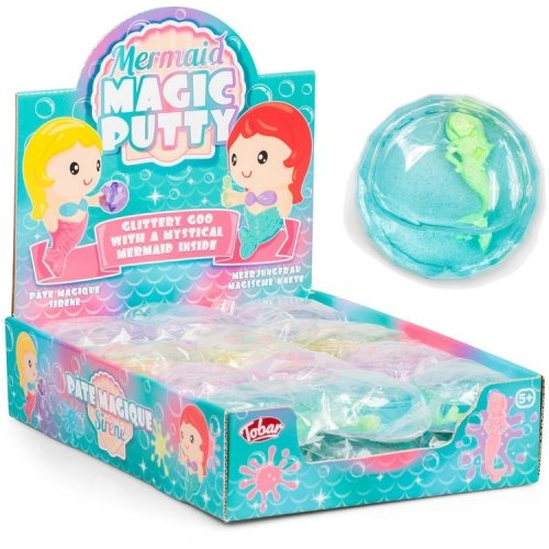 Mermaid Magic Glitter Putty Toy with Mermaid Toy Inside