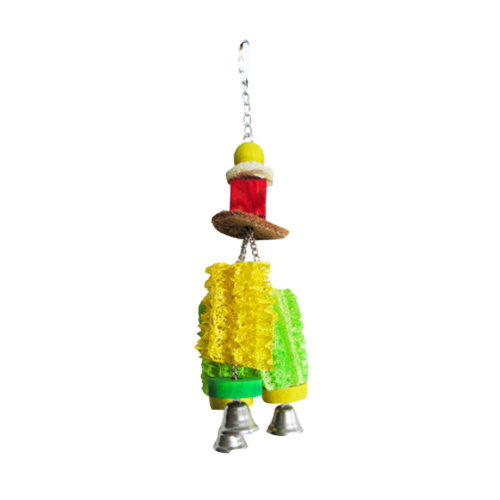 [Aeolian Bell] Natural Loofah Resistance to Bite Molar Teeth Bird Toy,Edible Toy