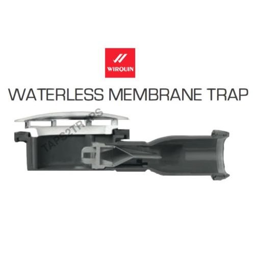 WIRQUIN MEMBRANE SEAL LOW PROFILE EXTRA SLIM SHOWER WASTE TRAP