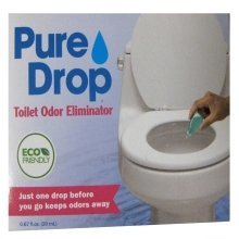 Pure Drop Toilet Odor Eliminator- Just One Drop Before You Go Keeps Odors Away.