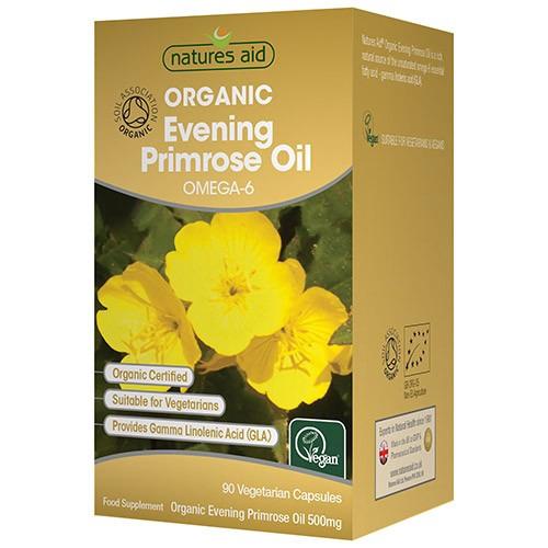 Natures Aid Organic Evening Primrose Oil 500mg 90 Vegicaps