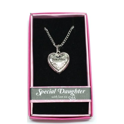 Special Daughter Love Locket Pendant Gift Boxed with Picture Holder