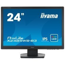 "Iiyama Prolite X2485ws-b3 24.1"" Full Hd Ips Matt Black Computer Monitor Led Display"